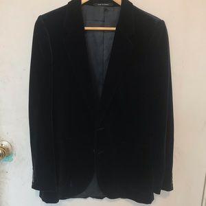 YSL Navy Blue velvet smoking jacket